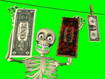 Dessin animé - blanchissage d'argent Image libre de droits