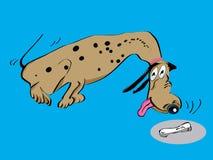 Dessin animé dalmatien de crabot Photographie stock