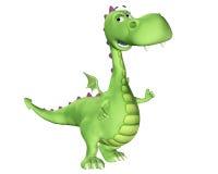 Dessin animé de dragon - heureux Image libre de droits