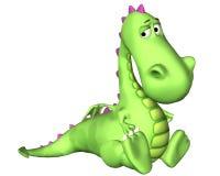 Dessin animé de dragon - très triste Photo libre de droits