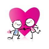 Dessin animé du jour de Valentine Images libres de droits