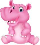 Dessin animé mignon d'hippopotame Photos stock