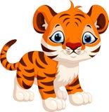 Dessin animé mignon de tigre Photo libre de droits