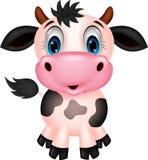 Dessin animé mignon de vache Photos stock
