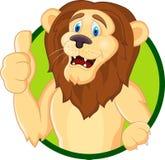 Dessin animé principal de lion Photos stock