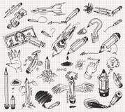 Dessin au crayon Photographie stock libre de droits