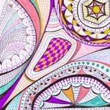 Dessin au crayon abstrait Image libre de droits