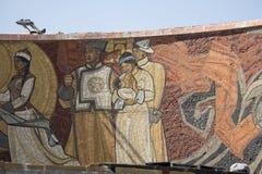 Dessin au mémorial de Zaisan dans le mongolian Image stock