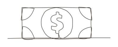 Dessin au trait argent un Photographie stock libre de droits
