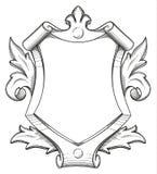 Dessin baroque de bouclier illustration libre de droits