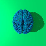 Dessin bleu original de cerveau Photo stock