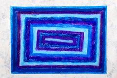Dessin coloré de main : rectangles bleus image stock
