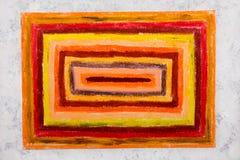 Dessin coloré de main : rectangles oranges photographie stock