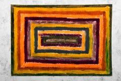 Dessin coloré de main : rectangles oranges photographie stock libre de droits