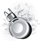 Dessin d'écouteur Photo libre de droits