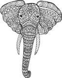 Dessin d'éléphant de griffonnage de vecteur illustration de vecteur