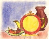 dessin d'aquarelles d'Encore-durée Photos libres de droits