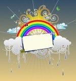 Dessin d'arc-en-ciel Images libres de droits
