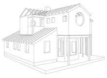 Dessin 3D architectural abstrait de maison de rapport Vecteur créé de 3d illustration libre de droits