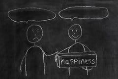 Dessin d'enfant d'enfant heureux et d'enfant triste Photo stock