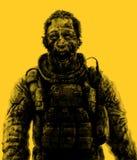 Dessin d'homme d'affaires de zombi Illustration sur le thème de l'apocalypse Photos libres de droits