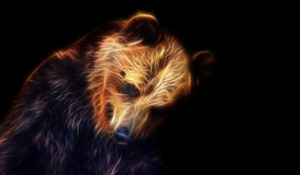 Dessin d'imagination de Digital d'un ours Photos libres de droits