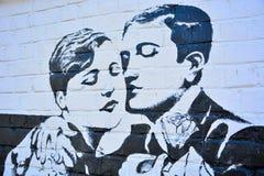 Dessin d'un homme et d'une femme, de style rétro Photographie stock