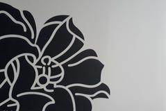 Dessin d'une fleur noire illustration stock