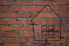 Dessin d'une maison Image stock