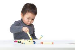 Dessin de bébé garçon de l'Asie photographie stock libre de droits