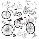 Dessin de bicyclette Images stock