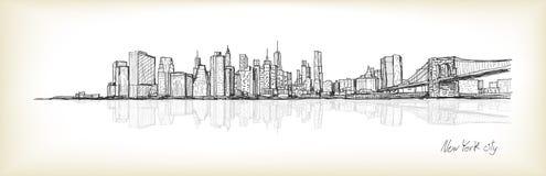 Dessin de carte blanche de scape de ville, ville de Hanoï, illustration Photo stock