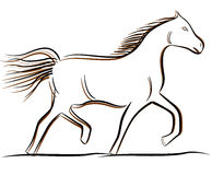 Dessin de cheval de vecteur Photographie stock libre de droits