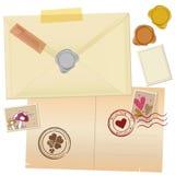 Dessin de courrier de cru illustration libre de droits