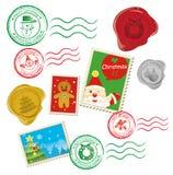 Dessin de courrier de Noël illustration de vecteur