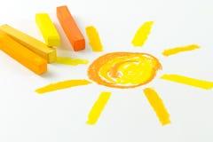 Dessin de crayon en pastel d'huile Images libres de droits