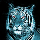 Dessin de Digital d'un tigre Photo stock