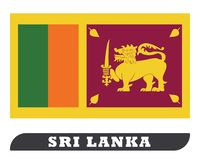 Dessin de drapeau de Sri Lanka par l'illustration illustration libre de droits