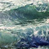 Dessin de grandes vagues de mer