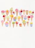 Dessin de griffonnage de crème glacée  Photos libres de droits