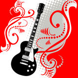 Dessin de guitare Images libres de droits