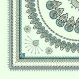 Dessin de hindi de filigrane de Mehendi, coin de tapis Photo libre de droits