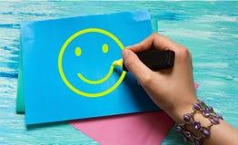 Dessin de la main des femmes souriantes Images libres de droits