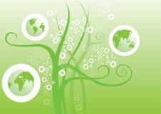 Dessin de la terre verte Photographie stock libre de droits