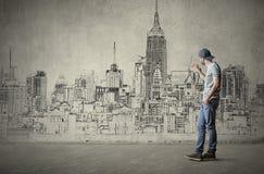 Dessin de la ville illustration libre de droits