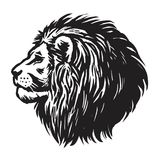 Dessin de Lion Head Realistic Hand Drawn Illustration de vecteur Photos libres de droits