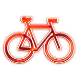 Dessin de logo de bicyclette   Photos stock