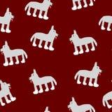 Dessin de loup sur une couleur rouge foncé illustration stock
