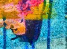 Dessin de main dans l'abstraction d'huile Fond grunge de texture Modèle de conception de cru Papier peint créateur Art mélangé d' illustration stock