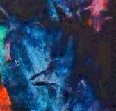 Dessin de main dans l'abstraction d'huile Fond grunge de texture Modèle de conception de cru Papier peint créateur Art mélangé d' illustration de vecteur